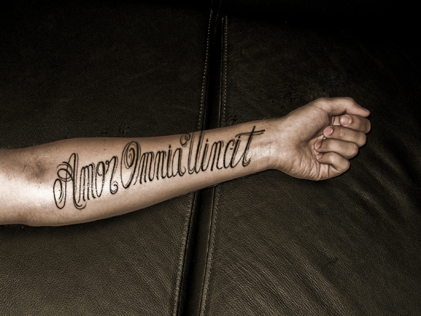 amore tattoo designs. amor vincit omnia tattoo