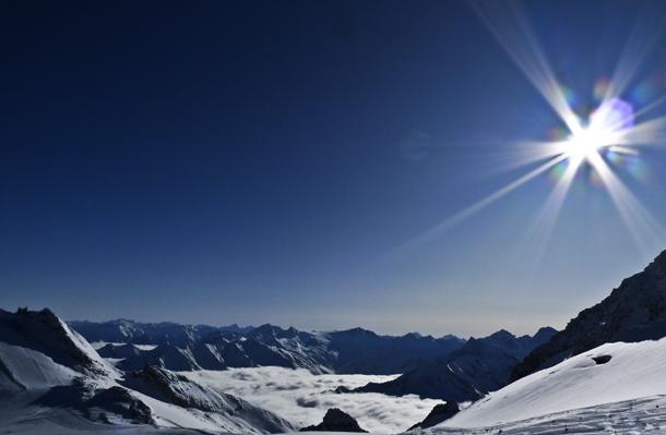 Alperne i skydække