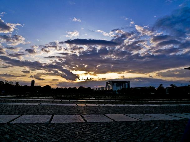 Berlin solnedgang