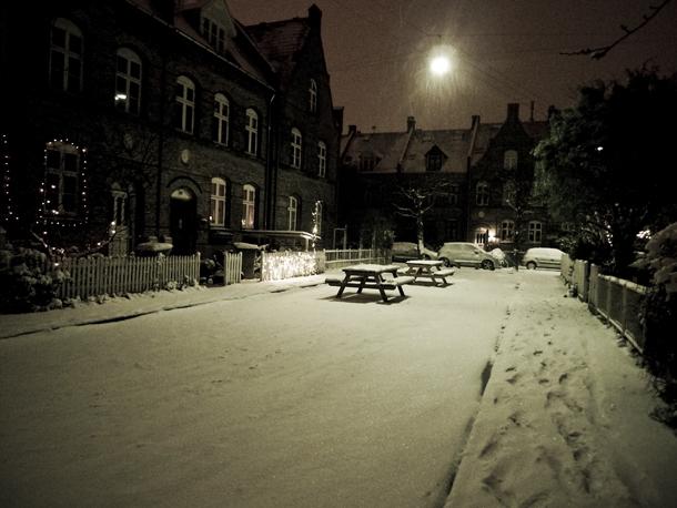 Sne i Kunstnerkvarteret