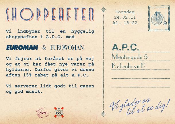 A.P.C. Shoppeaften
