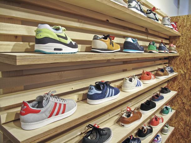 Rezet Store København Wall of Sneaks